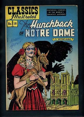 Classics Illustrated 18 (HRN #60) G  Gilberton Hunchback of Notre Dame