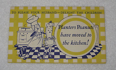 Planters Mr. Peanut Rare Recipe Booklet Peggy Planters Mrs. Peanut