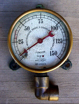 Railway Sar  Steam Loco 700 Class - Brass Antique Pressure Gauge - Westinghouse