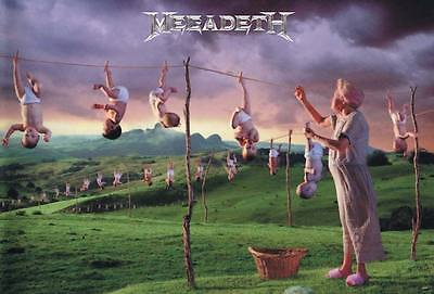 "MEGADETH ""YOUTHANASIA"" POSTER FROM ASIA - Album Cover Artwork, Heavy Metal Music"