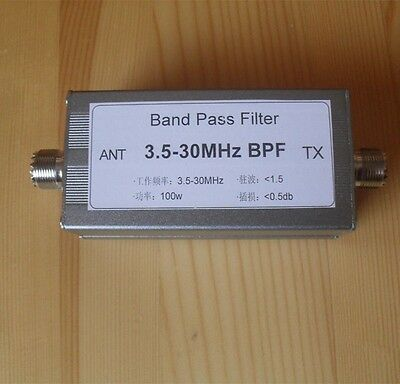 3.5-30MHz BPF Band Pass Filter For Reduce Shortwave Interference Radio Ham New
