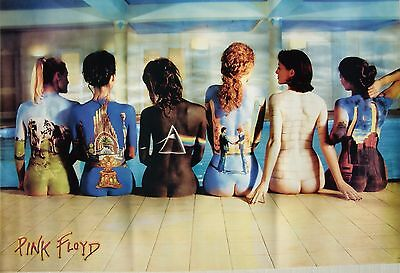 """PINK FLOYD """"ALBUM COVERS ON GIRLS' BACKS"""" POSTER FROM ASIA-Rich, Vibrant Colors!"""