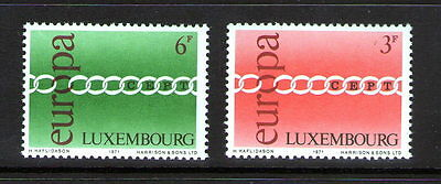 "Luxembourg  ""Europa"" pair..    M.N.H.       39p ask."