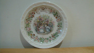 Royal Doulton Brambly Hedge miniature plate Summer