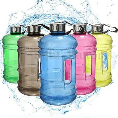 2.2L Liter Half Gallon 64oz BPA-Free Big Large Training Gym Water Bottle Handle