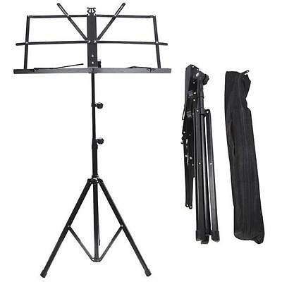 Adjustable Metal Sheet Music Stand Holder Foldable WITH CARRY CASE BAG New