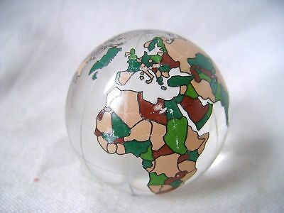 NEW SINGLE COLOURED GLASS WORLD GLOBE MAP ATLAS 40mm LARGE MARBLE COLLECTORS