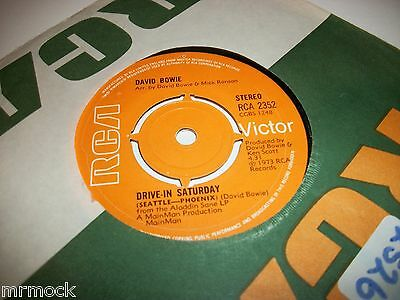 "DAVID BOWIE- DRIVE IN SATURDAY VINYL 7"" 45RPM co"
