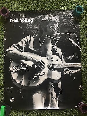NEIL YOUNG Very Rare Original 70's WARNER BROTHERS PROMOTIONAL POSTER