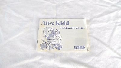 ALEX KIDD IN MIRACLE WORLD : INSTRUCTION MANUAL (BOOKLET) ONLY , master system