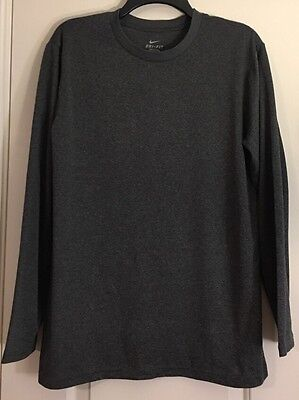 EUC Men's NIKE Dri-Fit L/S Shirt Size XL Gray