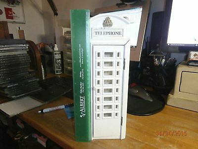 12 Inch Wood And Glass British Or Euro Style Phone Booth Neat Well Made Piece