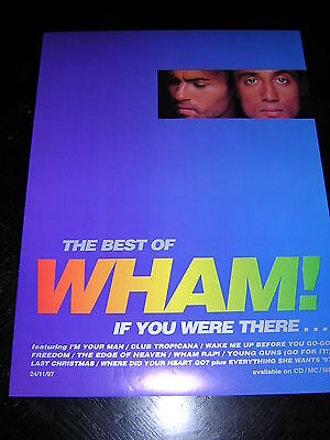 Original Wham! Promotional Poster - The Best Of Wham!