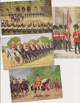 OLD POSTCARDS-8 Various GUARDS CARDS-Valentine's Series-UK