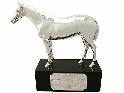 Sterling Silver Presentation Horse by Edward Barnard & Sons Ltd Antique George V
