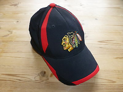 Chicago Blackhawks Reebok Nhl Hockey Center Ice Collection Cap L/xl
