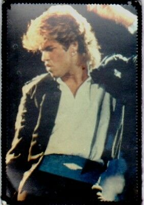 GEORGE MICHAEL  'DANCING''  vintage  sew on photo patch. WHAM  80's