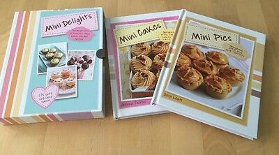 New Mini Delights : 2 Hardback Recipe Books ( Cakes, Pies)