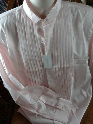 Men's Tuxedo Shirt- New- By Pierre Marie -Size 16.5- Pale Pink & Very Nice!