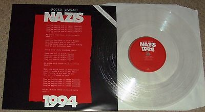 "ROGER TAYLOR (Queen related) - NAZIS 1994  - UK Clear Vinyl 12"" Single"