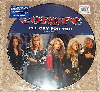 "EUROPE - I'll Cry For You - UK Vinyl 12"" Picture Disc Single"