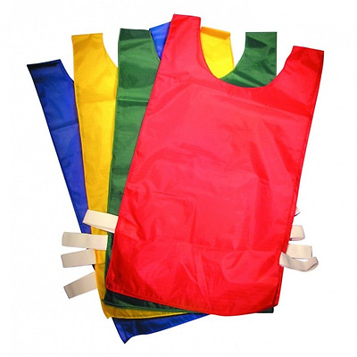 Singles or Pack of 5/10 Sports Bibs for Kids Youth Adults - Football - Training