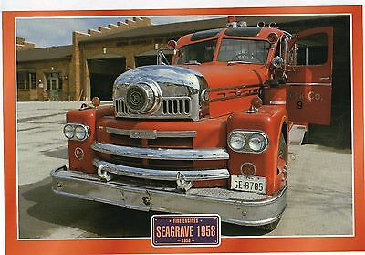 Seagrave 1958            Fire Engine    Glossy   Picture (T100)