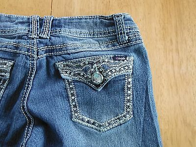 Women's, Juniors, Angels, Skinny, Bling, Embroidery, Denim Jeans, Size 5