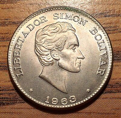 1963 Colombia 50 Centavos Simon Bolivar Coin Mint State Condition