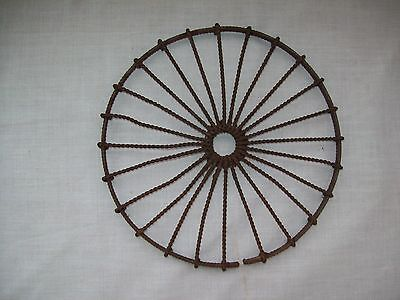 nice Early 1800's  twist wire wrought iron  Trivit 6""