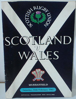 Scotland Wales Rugby Union Programme 1961