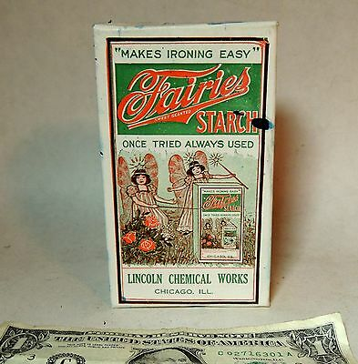Antique vtg Art Deco 1930 Unopened Box FAIRIES STARCH Laundry Soap Fairy NOS