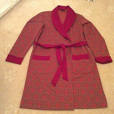 mens vintage dressing gown smoking jacket 70's size 42 chest