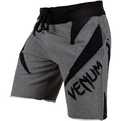 VENUM Cotton Shorts, Jaws, grau, MMA, Muay Thai, Gym, Fitness, Jogging, Hosen