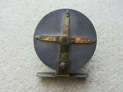 Vintage Alloy and Brass Star Back Fishing Reel