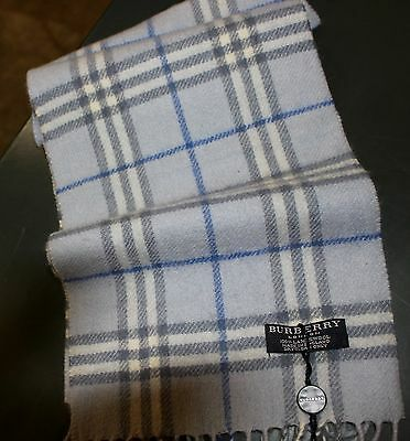 Burberry Scarf In Blue (Single Tassle) Rrp £95 Now £49