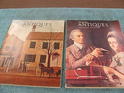 Lot of two Vintage THE MAGAZINE ANTIQUES August 1974 November 1972