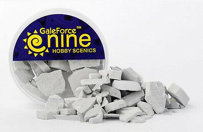 Gale Force Nine: Miniatures Tools: Hobby Round Concrete Rubble Mix