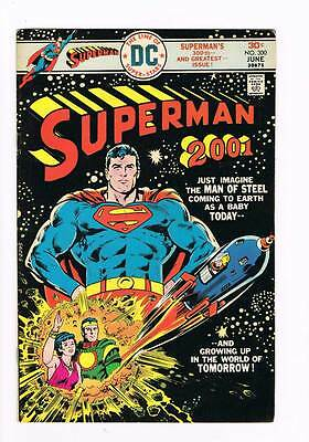 Superman # 300  Growing Up in the World of Tomorrow ! grade 7.0 scarce book !!