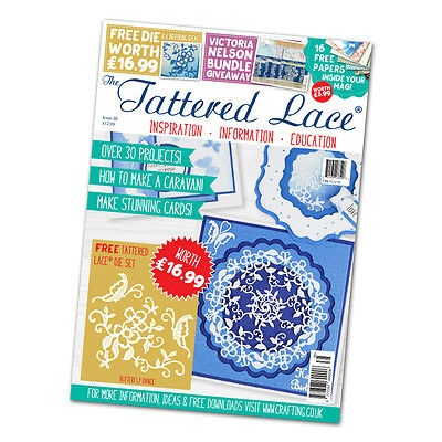Tattered Lace Magazine - Issue 38 + Free Die BUTTERFLY DANCE - FREE UK P&P