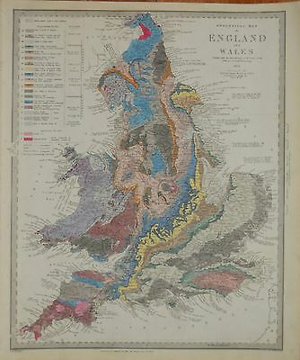 Geological Map  For The Sduk. 1843.