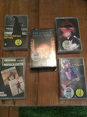 Lot / Collection Of 5 x Neil Young Cassettes