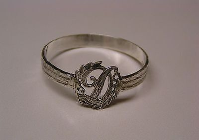 Napkin Ring with a ( Initial ( D ) Sterling Silver