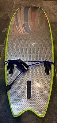 "Surfboard - 6'6"" Fish with fins & leash!"