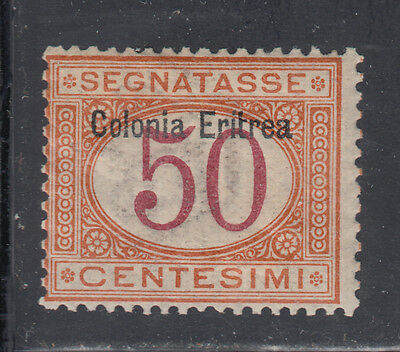 Eritrea J6 F-VF Unused OG 1903 50c Buff & Magenta Postage Due SCV $87.50