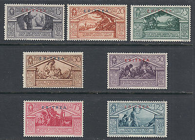 Eritrea 134-140 F-VF MH 1930 Virgil Issue of Italy Overprinted ERITREA