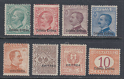 Eritrea 35//89 LH 1903-1924 Selection of 8 Different Classics SCV $53.65