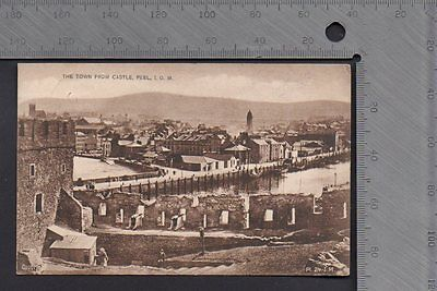 Isle of Man - The Town from Castle Peel 1927 - Pub Lilywhite