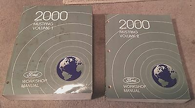 2000 Ford Mustang Service And Shop Manual 2 Volume Set Good Condition