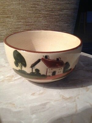 """motto ware small bowl / sugarbowl """"A hungry mans An angry man """""""